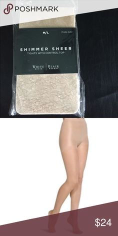 """White House Black Market Control Top Tights Pearl Dust. Control Top. Package says these fit 5'5""""- 5'10"""" and 140-185 pounds. 88% Nylon / 12% Spandex. Would be great to add to bundle for discount. White House Black Market Accessories Hosiery & Socks"""