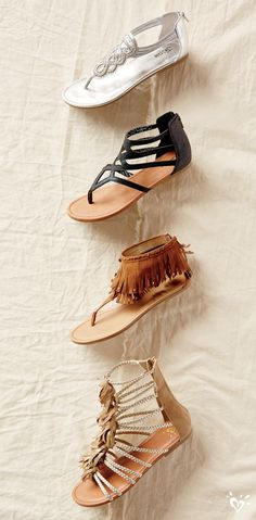 Strappy sandals for beach (or backyard) exploring!