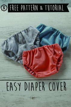 Super easy diaper cover! Free pattern and tutorial Braguita cubre-pañal súper fácil! Tutorial y patrón gratis