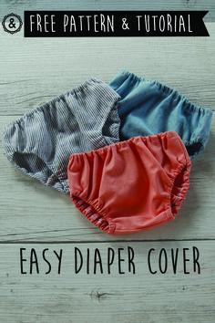 Super easy diaper cover! Free pattern and tutorial Braguita cubre-pañal súper fácil! Tutorial y patrón gratis