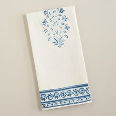 One of my favorite discoveries at WorldMarket.com: Blue Block Print Kitchen Towel