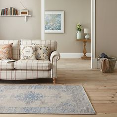 Buy John Lewis Starfield Rug, Soft Blue from our Rugs range at John Lewis. Classic Living Room, Home Living Room, Living Room Designs, John Lewis, Georgian Interiors, Carpet Shops, Flat Interior, Interior Ideas, Interior Design