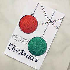 diy Christmas card #christmas #christmascards #handmade