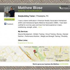 Matthew Blose Powered by BETTERFLY betterfly.com/matthewblose Bodybuilding Trainer | Philadelphia, PAContact Me! I have a trainer certification in American. http://slidehot.com/resources/matthew-blose-nutritionist-in.54472/