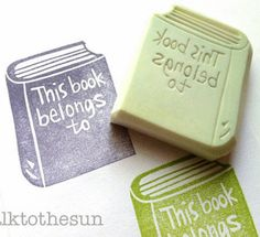 Bookplate Rubber Stamp (Customizable) | Community Post: 16 Gifts For Your Favorite Book Lover Under $26 Each