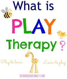 what is play therapy? Play to learn, learn to play. What you need to get started with play therapy for your child. Referral information & more.