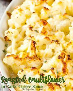 Roasted Cauliflower in Garlic Cheese Sauce