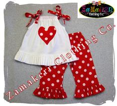 cute heart pillowcase dress top- would just make bigger and leave out the pants. TOO cute!