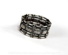 USX II ring  industrial sterling silver ring by IMNIUM on Etsy, $67.99
