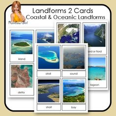 Landforms 2 Cards - Coastal & Oceanic Landforms