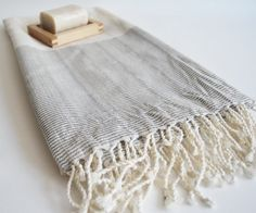 Inside your home inspiration for details: turkish bath towel, handwoven linen Cosy Interior, Turkish Bath Towels, Bath Linens, Home Spa, Slow Living, Bath Accessories, Home Textile, Bath And Body, Hand Weaving