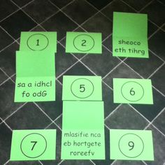 Singing time scramble. For older primary, kids pick a number and try to rearrange the letters to make a primary song and then sing it. They could even have a go conducting. Could do it in teams, if you get it by yourself you get 3 points if you need teams help get 1 point.