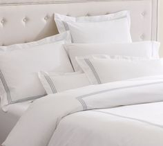 Grand Embroidered 200-Thread-Count Duvet Cover & Shams | Pottery Barn