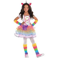 Kids Girls Rainbow Unicorn Costume Size S Halloween Multi-Colored Unicorn Halloween Costume, Halloween Costumes For Girls, Girl Costumes, Halloween Kids, Adult Costumes, Costume Ideas, Halloween 2018, Costumes 2015, Fox Costume