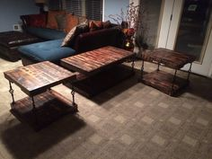 Set Decor, Furniture, Table, Home, Wood Crafts, Pallet Coffee Table, Coffee Table, Home Decor, Room