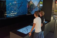 Rose Bike Town - the future bicycle store in Germany Bike Experience, Bicycle Store, Digital Signage, Retail Shop, Munich, Digital Marketing, Innovation, Germany, Showroom