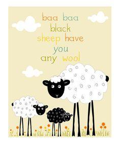 """""""Baa Baa Black Sheep..."""""""