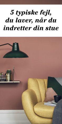 Hvor skal møblerne stå, hvordan med væggene - og tæpperne? Få tips til, hvordan du bedst indretter en hyggelig stue. Interior, Dinning, Dream Decor, Interior Inspiration, Home Decor Decals, Peach Walls, Home Decor, Home Deco, Living Room Grey
