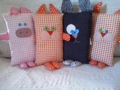 Risultati immagini per como hacer suela para espadrilles Baby Pillows, Kids Pillows, Animal Pillows, Baby Sewing Projects, Sewing For Kids, Fabric Toys, Fabric Scraps, Stuffed Animal Patterns, Diy Stuffed Animals