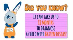 #DidYouKnow is can take up to 1& months to diagnose #BattensDiseas ? e#battens#disease#awareness#dogood#donate#charity