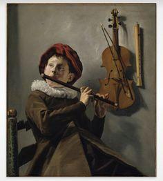 Judith Leyster (born 28 july 1609); Boy playing de flute.