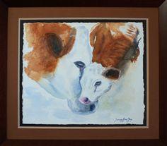 Water colour painting of cow and calf by Summer Brook-Jones. www.summerbrookjones.com