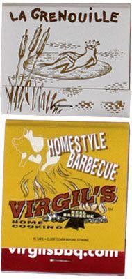 Virgil's BBQ NYC 20 stem #matchbooks