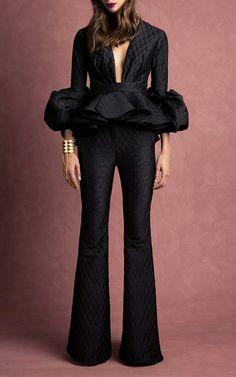 Click Product to Zoom Johanna Ortiz Maia Origami Peplum Top 💎💎💎👑 Estilo Fashion, Look Fashion, Runway Fashion, High Fashion, Fashion Show, Fashion Outfits, Womens Fashion, Fashion Design, Mode Inspiration