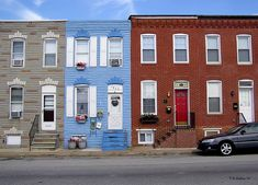 Paintings of Row Houses | South Baltimore Row Homes Photograph