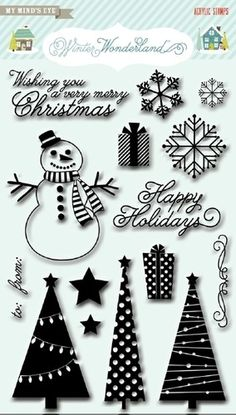 NEW My Mind's Eye Clear Stamps Christmas Winter Wonder | eBay