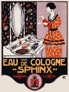 Sphinx Eau de Cologne c.1920s  http://www.vintagevenus.com.au/products/vintage_poster_print-fas292