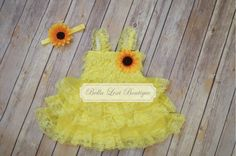 Hey, I found this really awesome Etsy listing at https://www.etsy.com/listing/190005697/sunflower-vintage-dress-lace-flower-girl