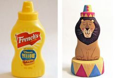 Food Container Art Pieces ,,,, HOW FUN TO DO THIS WITH CONDIMENT BOTTLES TO FIT THE THEME