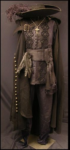 "Matthew MacFadyen ""Athos"" brown costume with hat from The Three Musketeers. Costume designed by Pierre Yves Gayraud"