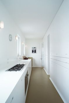 Berlin architect Thomas Kröger. Love the brevity of line, the use of positive and negative, the clean minimal look accentuated by colour. These are stylish contemporary spaces that are strong in their subtlety, clever in their use of materials and colour blocking to delineate and accentuate.