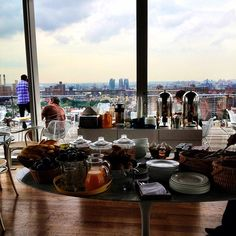 Complimentary breakfast with an amazing view at The Standard East Village