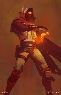 Destiny 2 Concept Art by Ryan DeMita - Sci-fi/Fantasy - Game Art Concept Art Books, Concept Art World, Game Concept Art, Character Concept, Character Art, Character Design, Character Sketches, Art Sketches, Destiny Hunter