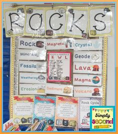 rocks interactive word wall with realia attributes don 39 t follow the link but something like. Black Bedroom Furniture Sets. Home Design Ideas