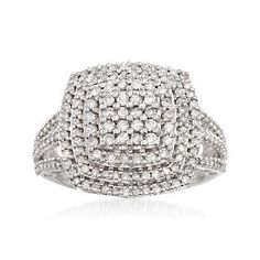 Ross-Simons - 1.00 ct. t.w. Diamond Ring in Sterling Silver - #868230