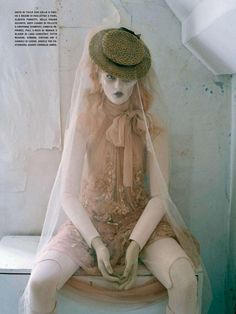"""Mechanical Dolls"""" photographed by Tim Walker and styled by Jacob K for Vogue Italia October 2011."""