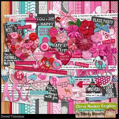 Sweet Valentine by Clever Monkey Graphics - Digital scrapbooking kits available through Oscraps, GingerScraps, or MyMemories