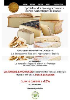 LE FROMAGE  Une recette - Les ingrédients - 1 CLICK  Save 25% avec CLICK & CHEESE - Le Fromage dans un Fauteuil