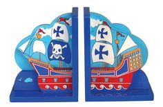Pirate Ship Bookends (pair)