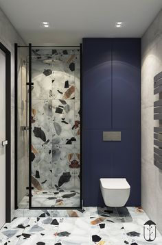 Bathroom Niche: Learn How To Choose And See Ideas With Photos - Home Fashion Trend Bathroom Design Luxury, Modern Bathroom Design, Restroom Design, Home Room Design, Bathroom Inspiration, Small Bathroom, Room Decor, Behance, Terrazzo
