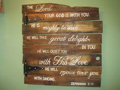 pallet scripture decor