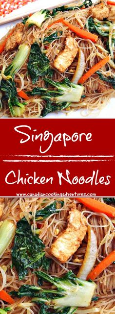 Singapore Chicken Noodles #singapore #singaporerecipes #singaporenoodles #ricenoodles #vermicelli #chicken #chickenrecipes #carrots #bokchoy #canadiancookingadventures #yummy #cooking #easyrecipes #asian #stiryfry #nomnom #foodblogger #blogger #eats #dinner #healthyrecipes #healthyfood #stirfryrecipe #foodnetwork #canada #cooks