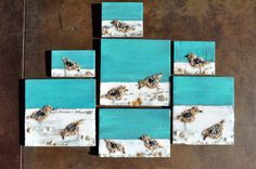 SANDERLINGS- available at Lily Pads of Bluewater Bay Interior Market and Uniquely Chic in Baytowne Wharf.  Follow me on Facebook at www.facebook.com/BigOrangeHouseDesigns