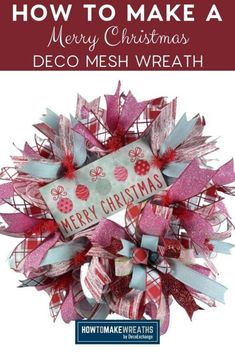 Here's a festive Christmas deco mesh wreath to make as you ring in the holiday season. As December is approaching, you are probably looking for a fun DIY wreath to make to hang up in your home. Look no further, this wreath is an eye-catcher!
