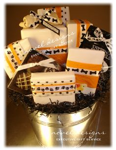 Here's beautiful animal print gift basket for the Garden Gift Shop ...