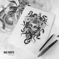 tattoos on her back i see all that lyrics Medusa Tattoo Design, Tattoo Design Drawings, Tattoo Sketches, Medusa Drawing, Medusa Art, Medusa Gorgon, Leg Tattoos, Body Art Tattoos, Sleeve Tattoos